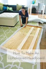 how to make a diy upholstered headboard