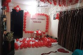 home decoration for husband birthday