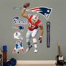 Nfl New England Patriots Rob Gronkowski Wall Decal Sticker Wall Decal Allposters Com