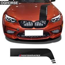 Car Hood Bonnet Stripes Decal Stickers For Bmw M Performance F10 F20 F30 F22 F32 G01 G20 G05 G30 F45 F15 F16 E46 E90 Accessories Car Stickers Aliexpress