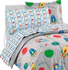 space rocket ship comforter sheets sham