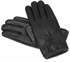 mens winter black genuine leather