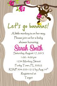Monkey Baby Shower Invitation Tarjetas De Baby Shower Tarjetas