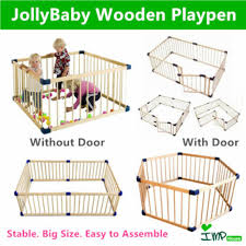 Baby Safety Wooden Smart Playpen Safety Play Pen Play Yard Fence Babies Kids Cots Cribs On Carousell