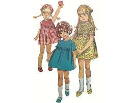Child Size 6 Simplicity 6947 Vintage One Piece | Etsy