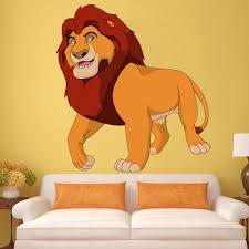 Shop Full Color King Lion Cartoon Simba Full Color Wall Decal Sticker Sticker Decal Size 44x44 Overstock 14834368