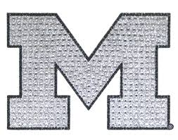 U Of M Bling Logo Adhesive Decal
