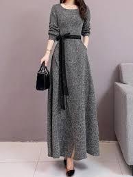 Sweater Dresses | Maxi knit dress, Long dress outfits, Long dress casual