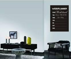 Diy Week Planner Chalkboard Calendar Vinyl Wall Decal Removable Planner Mural 804035485944 Ebay