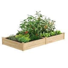 Greenes Fence 4 Ft X 8 Ft X 10 5 In Unfinished 0 5 In To 0 625 In T Value Cedar Raised Garden Bed Rce In 2020 Cedar Raised Garden Beds Raised Garden Garden Beds