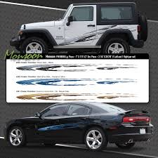 Monsoon Automotive Vinyl Graphics Shown On Dodge Charger And Jeep Wrangler Moproauto Professional Vinyl Graphics And Striping