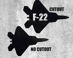 F 22 Raptor Decal Etsy