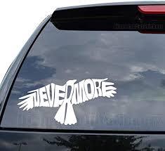 Amazon Com Diamondcutstickerz Nevermore Raven Edgar Allen Poe Decal Sticker Car Truck Motorcycle Window Ipad Laptop Wall Decor Size 09 Inch 23 Cm Wide Color Gloss White Home Kitchen