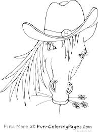 Awesome Animals Fun Coloring Pages Horse With Cowboy Hat Best