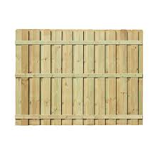 Unbranded 6 Ft H X 8 Ft W Pressure Treated Pine Board On Board Fence Panel 106586 The Home Depot