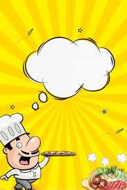 خلفية صفراء طبخ صورة رمزية قبعة إصبع مادة H5 نمط