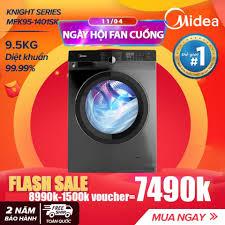 Máy Giặt Cửa Trước 9.5kg Midea MFK95-1401 (Diệt Khuẩn, 14 Chế Độ ...