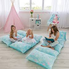 Amazon Com Colux 3 In 1 Premium Glow In The Dark Floor Pillow Cover For Kids Cover Only Pillow Chair Lounger For Boys Girls Fold Out Chair Bed Pillow Beds Kids