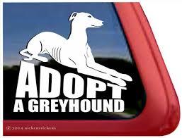 Adopt A Greyhound Dog Decals Stickers Nickerstickers