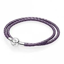double woven purple leather bracelet