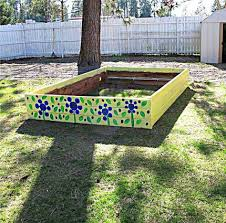 recycled materials raised garden