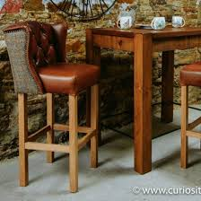 winged leather bar stool leather bar