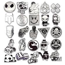 2020 Black And White Car Sticker Snowboard Laptop Luggage Fridge Motorcycle Bike Toy Vinyl Decal Home Decor Diy Cool Stickers From Blake Online 1 21 Dhgate Com