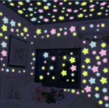 China Luminous Star Sticker Glow In Dark Sticker Beautiful Star Wall Sticker For Kids Room China Wall Paper And Home Decoration Price