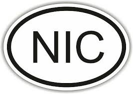 Nic Nicaragua Country Code Oval Sticker Bumper Decal Car Ebay
