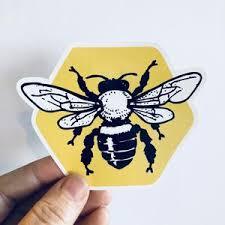 Honeycomb Bee Vinyl Sticker Anthem Sticker Company
