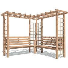 pergola bench walkhandmade