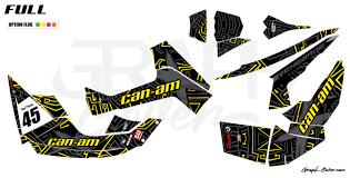 Graphic Kit Atv Can Am Renegade 800 Zikzak Black Yellow Extra Full Graphcover Custom Graphic Kits For Jet Ski Karting Dirt Bikes Atv Utv