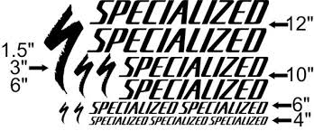 Custom Made Specialized Style Bike Frame Decals Stickers Made Etsy