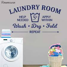 Laundry Room Rules Decal Quotes Wash Dry Fold Vinyl Wall Sticker Bathroom Wall Stickers Home Decor Toilet Decal Diy Murals Ly01 Wall Stickers Aliexpress