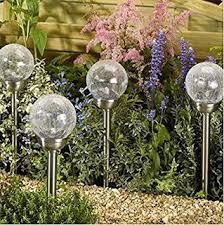 le glass solar lights outdoor