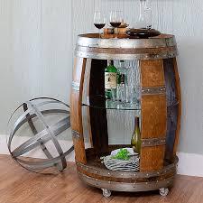 vintage wine barrel bar cart wine