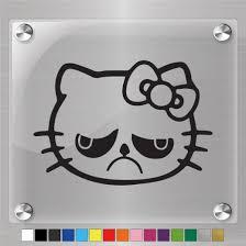 Hello Kitty Grumpy Cat Decal Vinyl Sticker