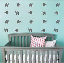Anber Elephant Family Wall Decal Removable Vinyl Wall Art Elephant Wall Decorative Unisex Sticker Baby Nursery Kids Room Wall Decor Wall Decor Nursery Wall Decor