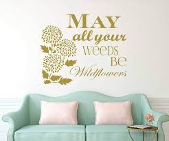 Inspirational Quote Flower Decal Stickers Vinyl Decor Wall Decal Customvinyldecor Com