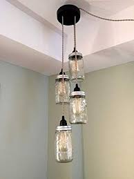 mason jar chandelier swag light no