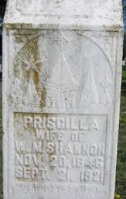 Flowers for Priscilla Hamilton Shannon - Find A Grave Memorial