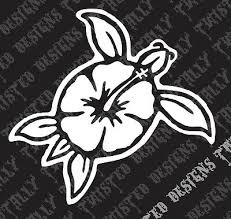 Hawaiian Turtle Flower Car Truck Vinyl Decal Sticker Hawaii Hibiscus Cute 3 99 Picclick