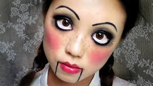 easy halloween makeup creepy cute doll