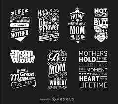 mother s day quotes vector set vector