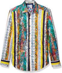 Amazon.com: Robert Graham Men's Sunset Strip L/S Woven Shirt: Clothing