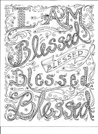 Instant Download Coloring Page Blessed By Chubbymermaid On Etsy