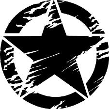 Distressed Army Star Premium Vinyl Decal Oracal651 Vinyl Decals Vinyl Decals