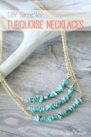diy simple turquoise necklaces with