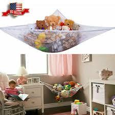 Large Soft Toy Hammock White Kids Bedroom Stuffed Plush Doll Storage Mesh Net For Sale Online Ebay