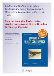 Pdf Fireflies And Land Use In An Urban Landscape The Case Of Luciola Italica L Coleoptera Lampyridae In The City Of Turin